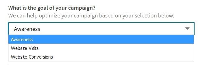 Doel van de LinkedIn campagne