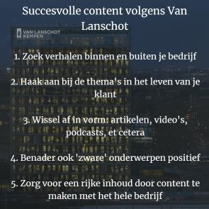 Succesvolle content volgens Van Lanschot