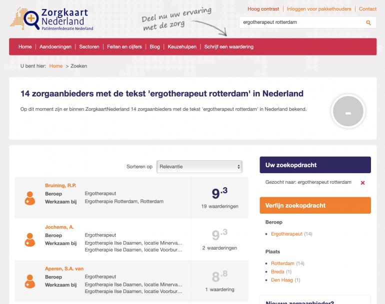 Ergotherapeut Rotterdam - ZorgkaartNederland