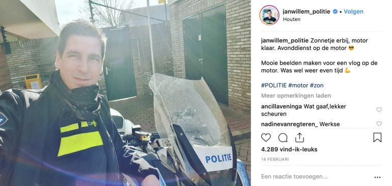 Jan-Willem politieman op Instagram