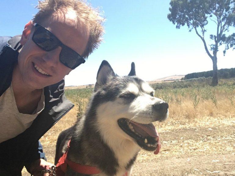Rik Baas met hond