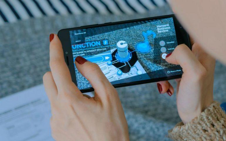AR op smartphone