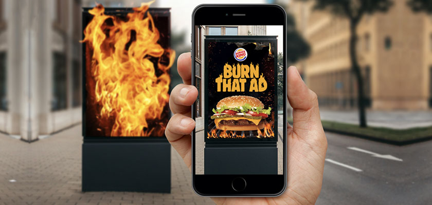 Burger King en augmented reality