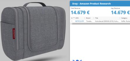 Het product op Amazon: Toilettas