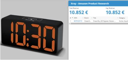 Het product op Amazon: Wekker