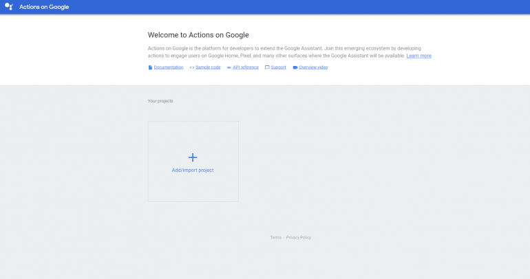 google actions stap 1