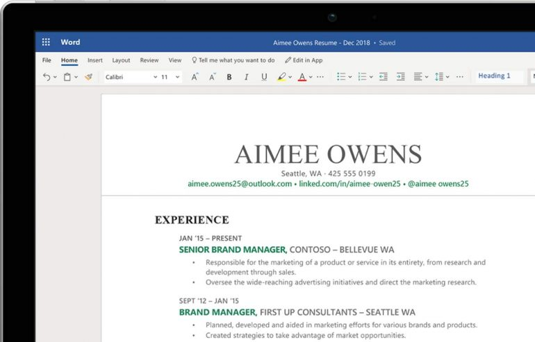Microsoft Word Online om online slimmer samen te werken.