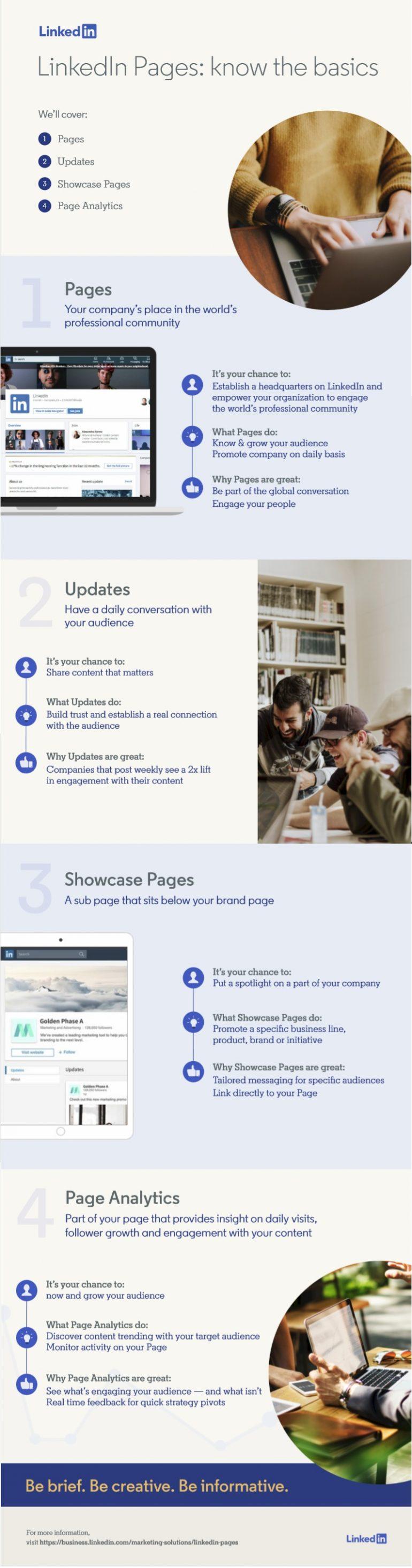 linkedin bedrijfspagina infographic