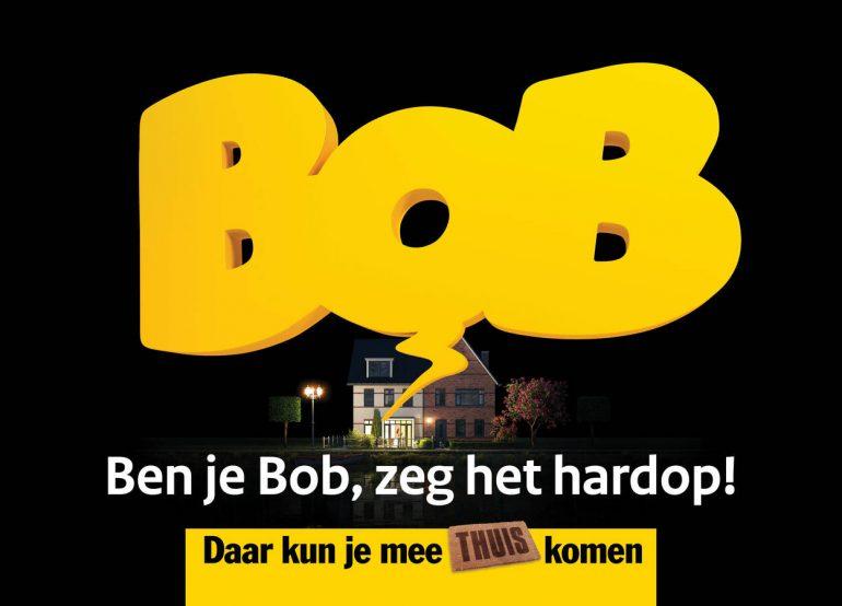 Een reclamebord van een Bob-campagne gebaseerd op neuromarketing.