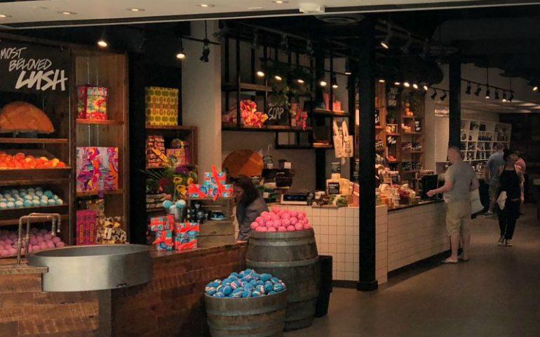 De winkel van Lush