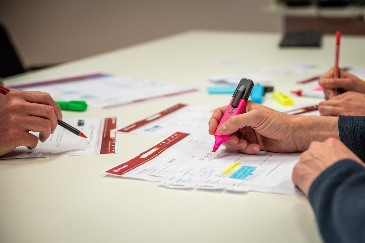 aan het werk met paper prototyping