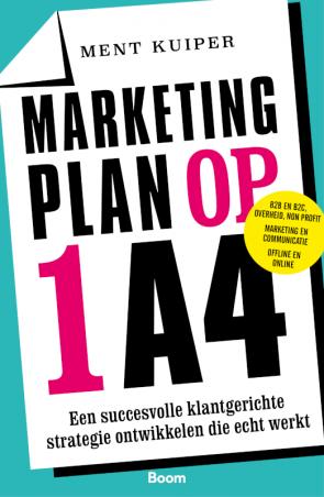Afbeelding van het boek marketingplan op 1 A4.