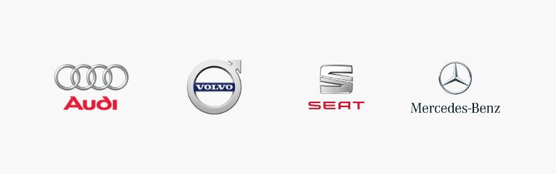 gepersonaliseerde logo's voor de auto-industrie.
