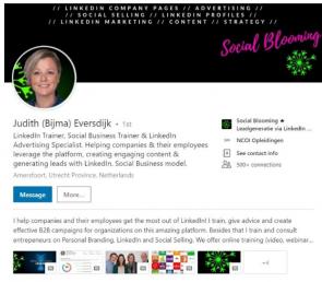 Screenshot van hoe je je meisjesnaam toevoegt aan je LinkedIn-profiel 1/2.