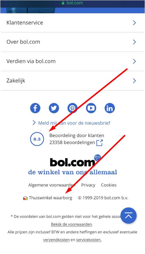 Thuiswinkel Waarborg-logo Bol.com