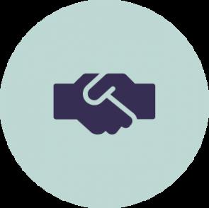 Een icon boven de opsomming met maatregelen voor een privacybewuste organisatie: gedeelde waarden en cultuur.