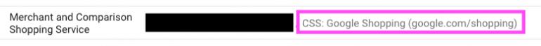 Voorbeeld van de standaard Google Shopping CSS.