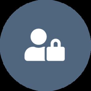 Een icon boven de opsomming met maatregelen voor een privacybewuste organisatie: supporten van privaybewust gedrag.