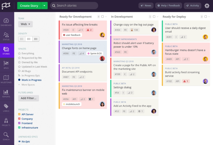 Screenshot van Jira: een van de tools voor online samenwerken.