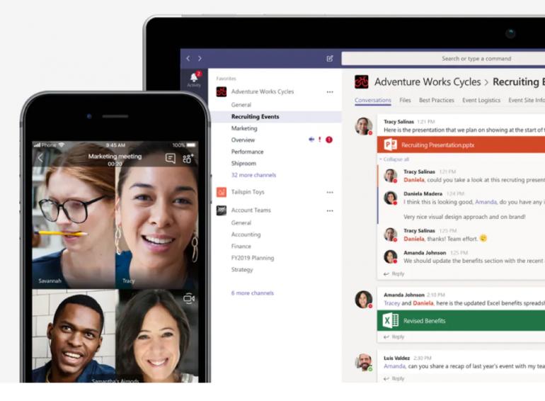 Screenshot van Microsoft Teams: een van de tools voor online samenwerken.