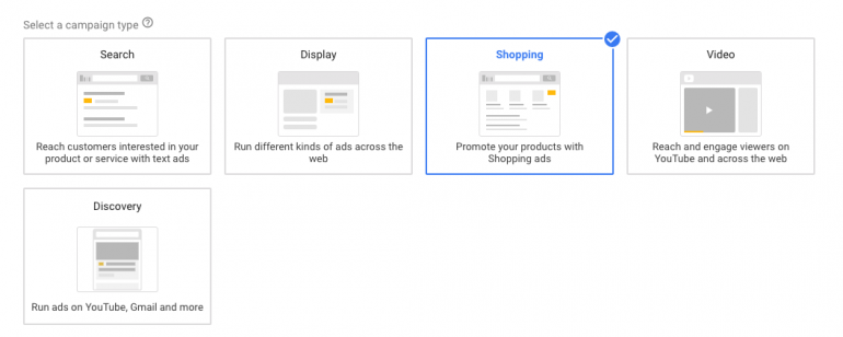 Selectie campagnetype google ads