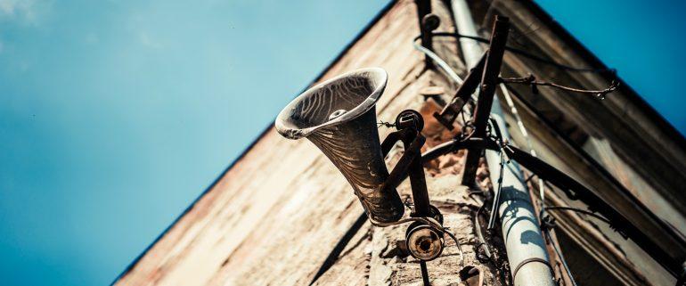 Afbeelding van een megafoon.