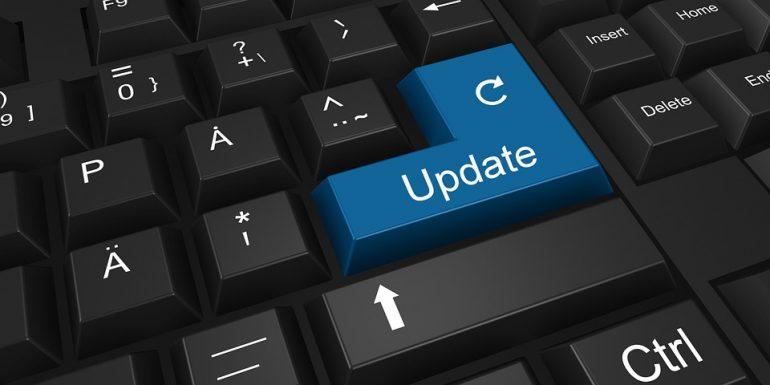 Afbeelding om duidelijk te maken dat updates belangrijk zijn voor informatiebeveiliging.