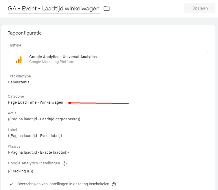 Google Tag Manager tags.