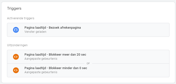 Google Tag Manager tags en triggers.