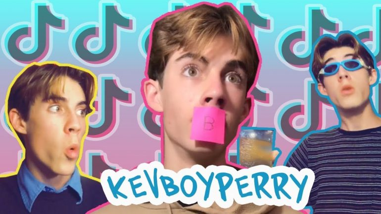 Screenshot van Kevboyperry, een bekende Tiktokker op TikTok.