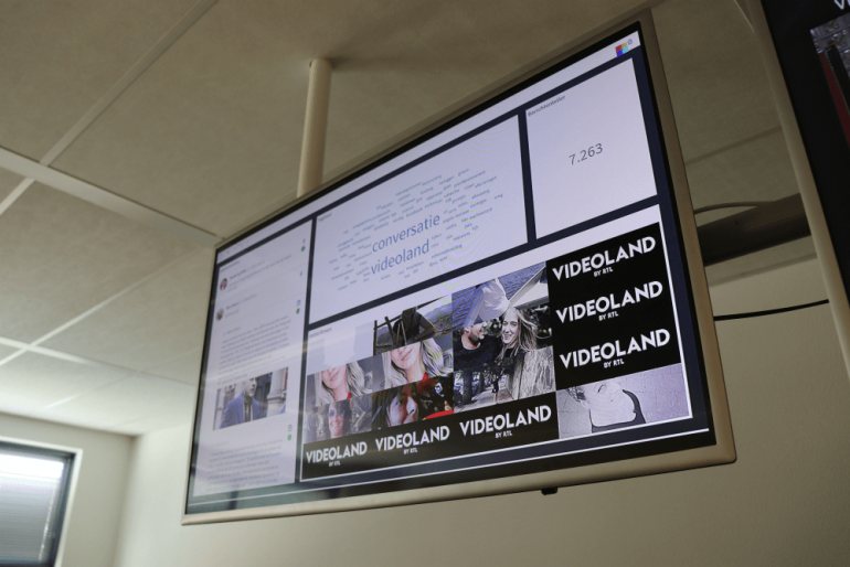 Voorbeeld van een socialmedia-dashboard voor interne bewustwording.