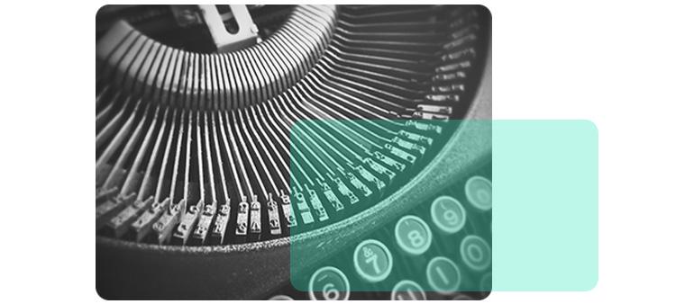 Afbeelding van een typemachine als illustratie bij dit artikel over tools.