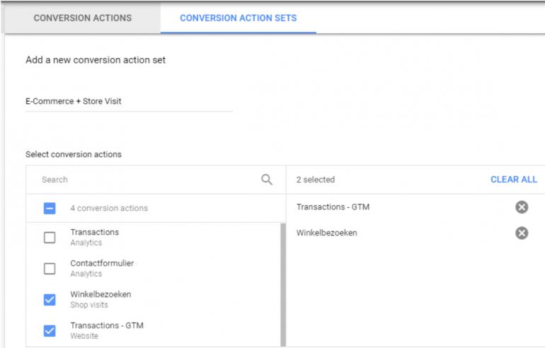 Conversion Action Sets.