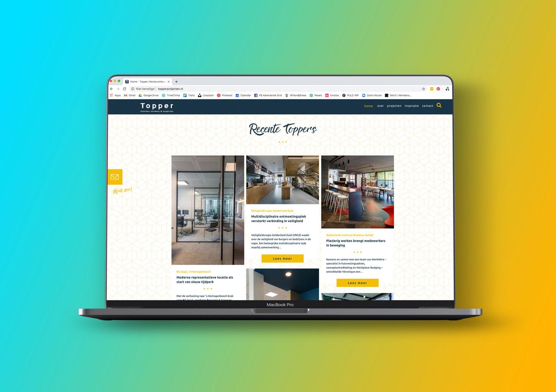 Overtuig website bezoekers met geboekte resultaten zoals een portfolio.