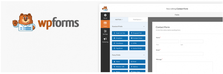 Screenshot WPForms.