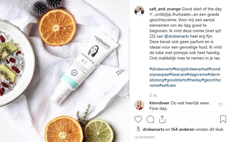 Screenshot influencer marketing Instagram.