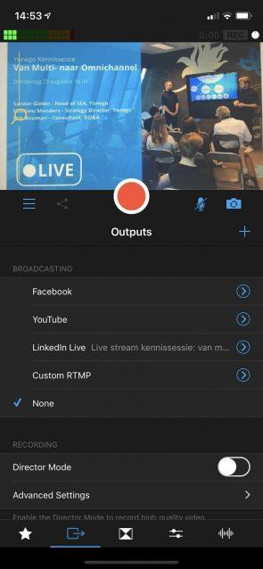Screenshot van LinkedIn waarbij je ziet hoe je LinkedIn Live kunt gebruiken.