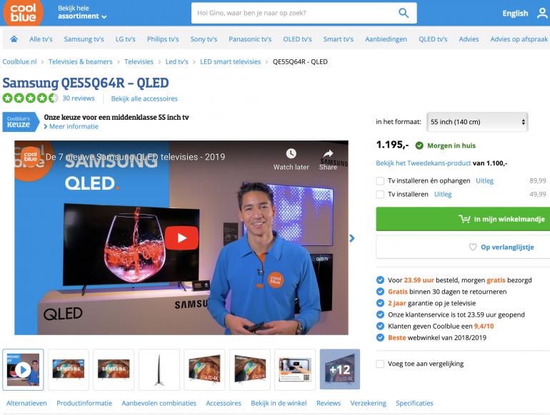 Coolblue houdt de webshop relevant voor de klant.