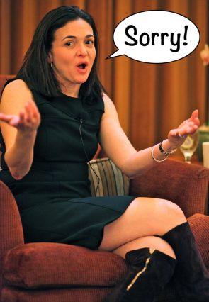 Foto van Sheryl Sandberg, COO van Facebook
