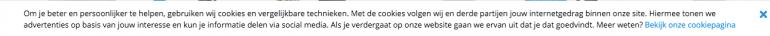 Cookiemelding van Coolblue.