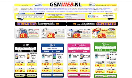 Screenshot GSMweb.nl