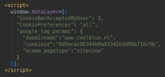 Script cookiess Coolblue tweede bezoek of pagina.