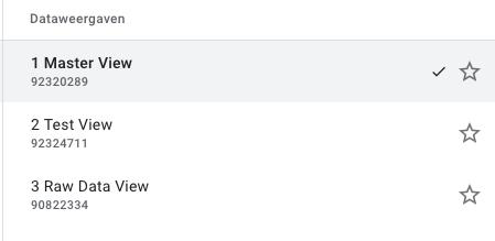 Verschillende dataweergave in Google Analytics.