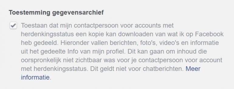 Screenshot van je Facebook-account verwijderen.