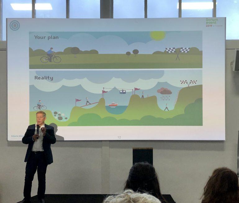 Foto van een presentatie