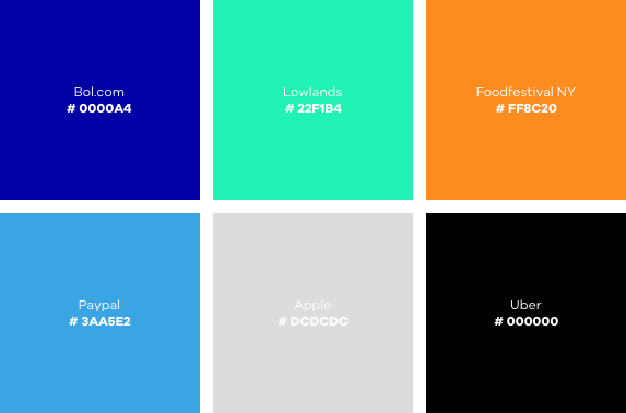 Online designtrends 2020: kleurenpalet.
