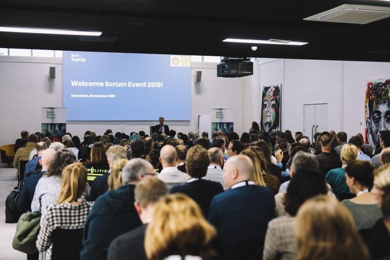 Foto gemaakt op Scrum Event 2018