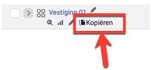 Screenshot van hoe je een advertentie moet kopiëren.