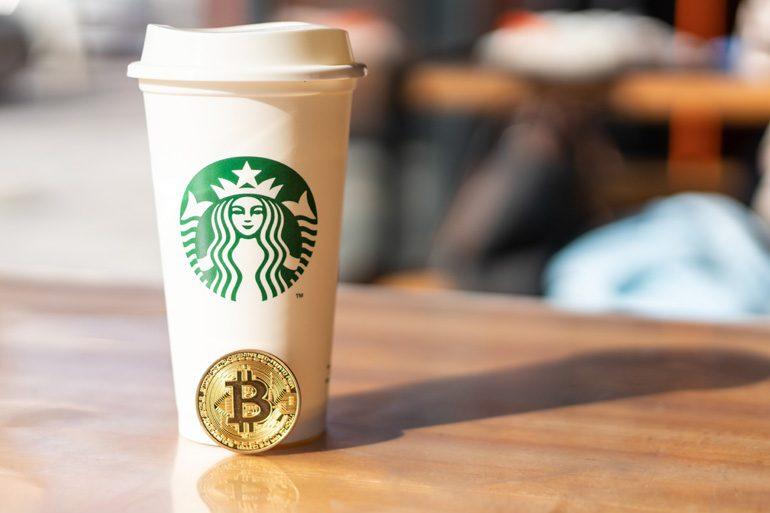 Starbucks-cup en bitcoin.