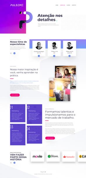 Voorbeeld van webdesign.